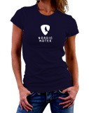 Nordic Notes T-Shirt Lady-Fit Colour Navy Size M