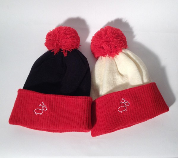 Eläkeläiset Poro Two colour winter hat Black Red