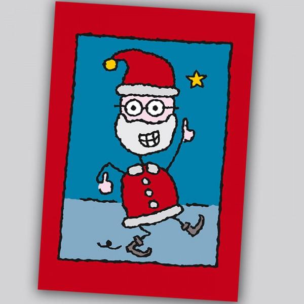 Eläkeläiset - Swinging Santa Weihnachtspostkarte