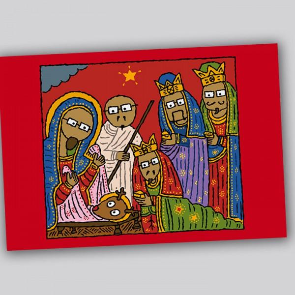 Eläkeläiset - Weihnachtspostkarte Krippe