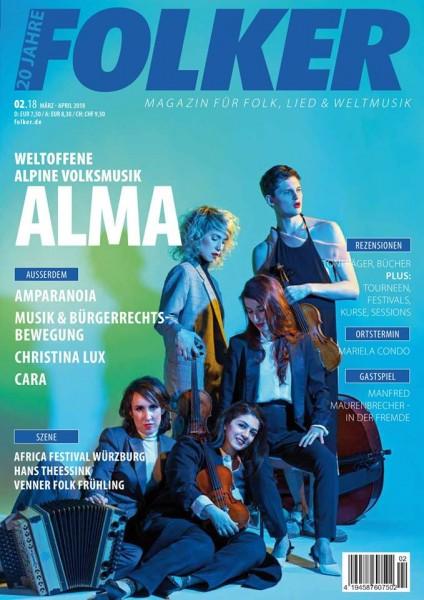 Folker - 02/2018 Magazin für Folk, Lied und Weltmusik