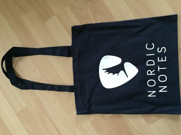 Nordic Notes Baumwolltasche Navy