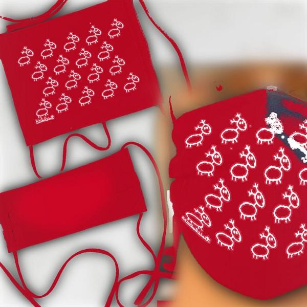 Eläkeläiset - Gesichtsmaske / Mundschutz Poro red